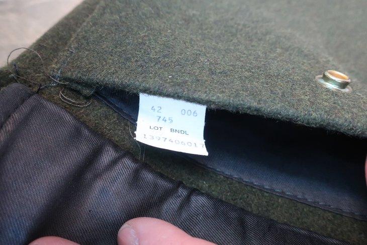 745 Hunting Jacket Tag in Pocket