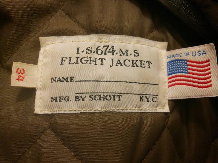 Main label of jacket