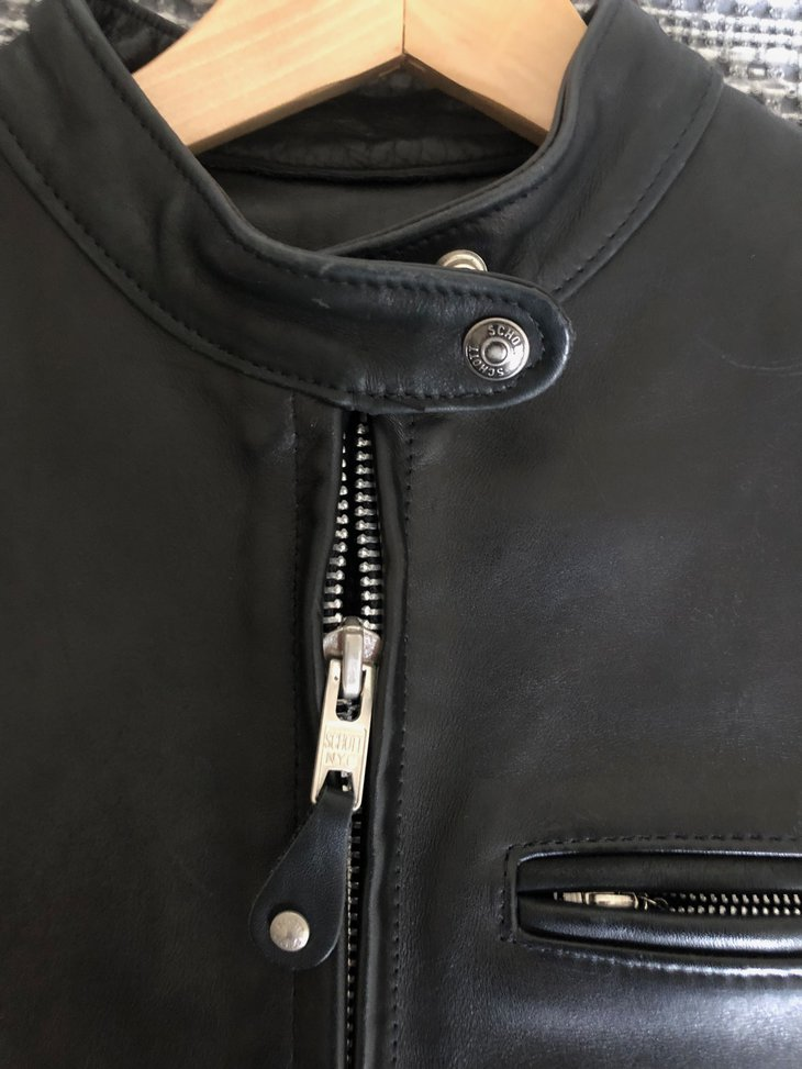 colar/front zipper detail