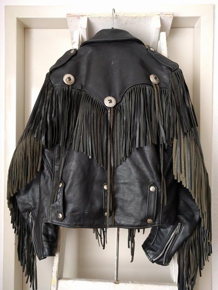 Schott Dur O Jac fringe jacket, size 38, back