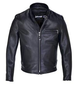 141 - Classic Racer Leather Motorcycle Jacket (Black)