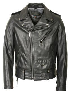 525 - Natural Pebble Cowhide Motorcycle Leather Jacket (Black)