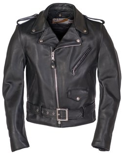 1dc682ebef 618 - Classic Perfecto Steerhide Leather Motorcycle Jacket (Black)