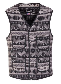 745V - Men's Wool Plaid Vest