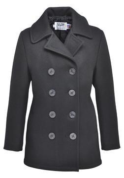 750W - Classic 32 Oz. Melton Wool Pea Coat for Women