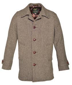 774 - Men's Wool Tweed Car Coat