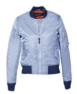 928JW - Women's Nylon Flight Jacket (Ice Blue)