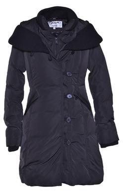 "9496W2 - 36"" Shawl Collar Nylon-Poly Asymmetrical Jacket"