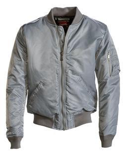 9628 - Men's Nylon Flight Jacket (Grey)