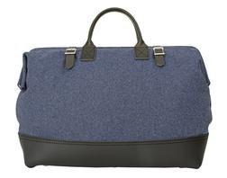 PB306 - Wool and Leather Mason Bag (Blue)
