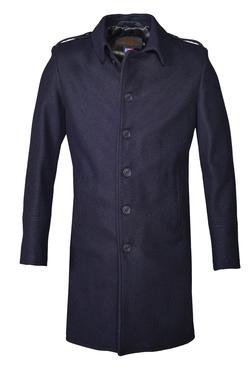 Style #C729 Single Breasted Wool Officer's Trenchcoat Front