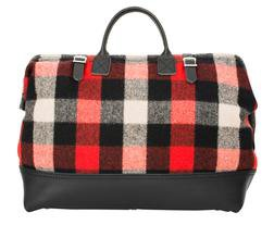 PB306 - Wool and Leather Mason Bag (Checks)