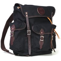 BC7121 - Black Cotton Canvas Backpack (Black)