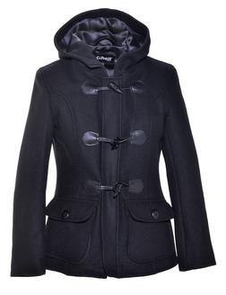 DU732W - Women's Cropped Wool Duffle Coat