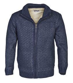 F1601C - Men's Sherpa Lined Sweater Jacket