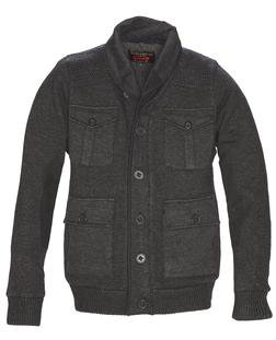 F1602 - Men's Zip Front  Military Style Sweater Jacket