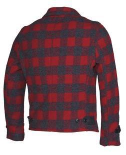 P731 - Men's Plaid Wool Jacket