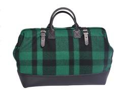 PB306 - Wool and Leather Mason Bag (Green)