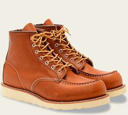 """R0875 - Red Wing Men's 6"""" Classic Moc Toe Boot"""