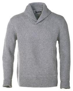 Grey Shawl Collar Cardigan