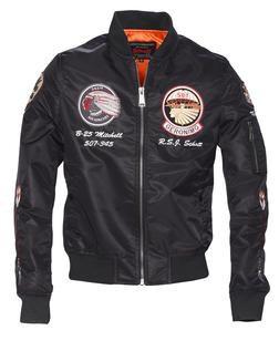 9723 - Men's Nylon Flight Jacket (Black)