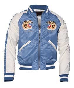 9725 - Men's Nylon Flight Jacket (Blue)