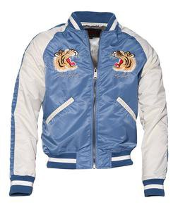 9725 - Two-Tone Nylon Flight Jacket (Blue)