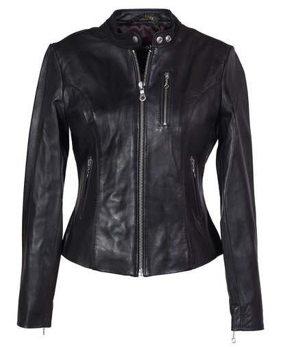 Womens Cafe Leather Jacket - Schott NYC