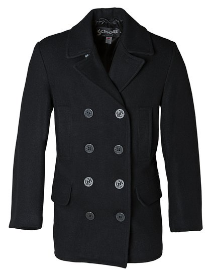 Men's Slim Fitting Wool Pea Coat DU704I