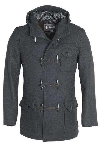 Men's Short Duffle Coat with Hood DU747