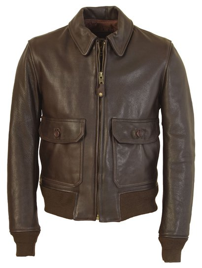 G–1 Flight Jacket in Naked Pebbled Cowhide Leather FLT7