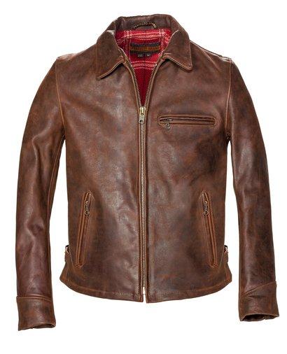 Storm - Heavyweight Oiled Nubuck Leather Biker Jacket