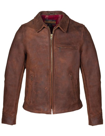 bed10e27eb534 Storm - Heavyweight Oiled Nubuck Leather Biker Jacket