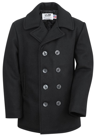 Classic 32 Oz. Melton Wool Navy Men Peacoat